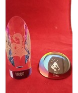 zodiac paperweight Virgo set of 2 shapes of Crystal colorful decorative - $11.99