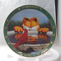 Garfield Collector Plate A Day With Garfield It'S Not The Having Its The Getting - $14.99