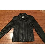 Jones Wear Sport Black Leather Medium Jacket - $19.31