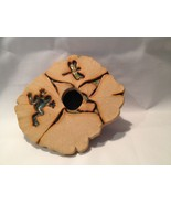 Ikebana Meyer Pottery Flower Frog Dragonfly - $15.51