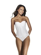 Dominique Longline Strapless Smooth Torsolette Bra (38C White) - $51.48