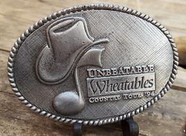 "Unbeatable Wheatables Buckle-Country Tour 94'-Fits 1.5"" Belt-VTG 1994-Music - $23.36"
