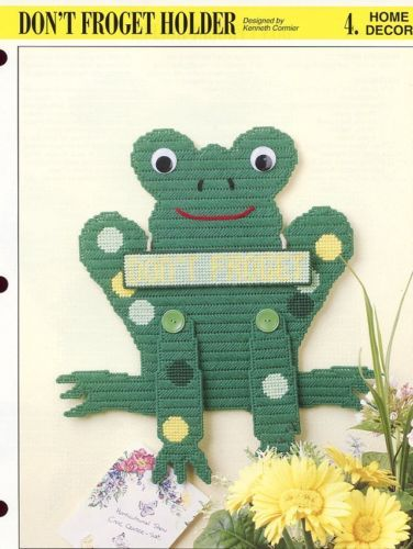 Don't Froget Holder Annie's NEW Plastic Canvas Pattern - 30 Days To Shop & Pay!