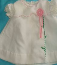 Vintage Tiny Tots Original Dolls Dress White Wi... - $12.95