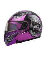 Masei 803 Skull Purple Chrome Flip Up Motorcycle Helmet - $499.00