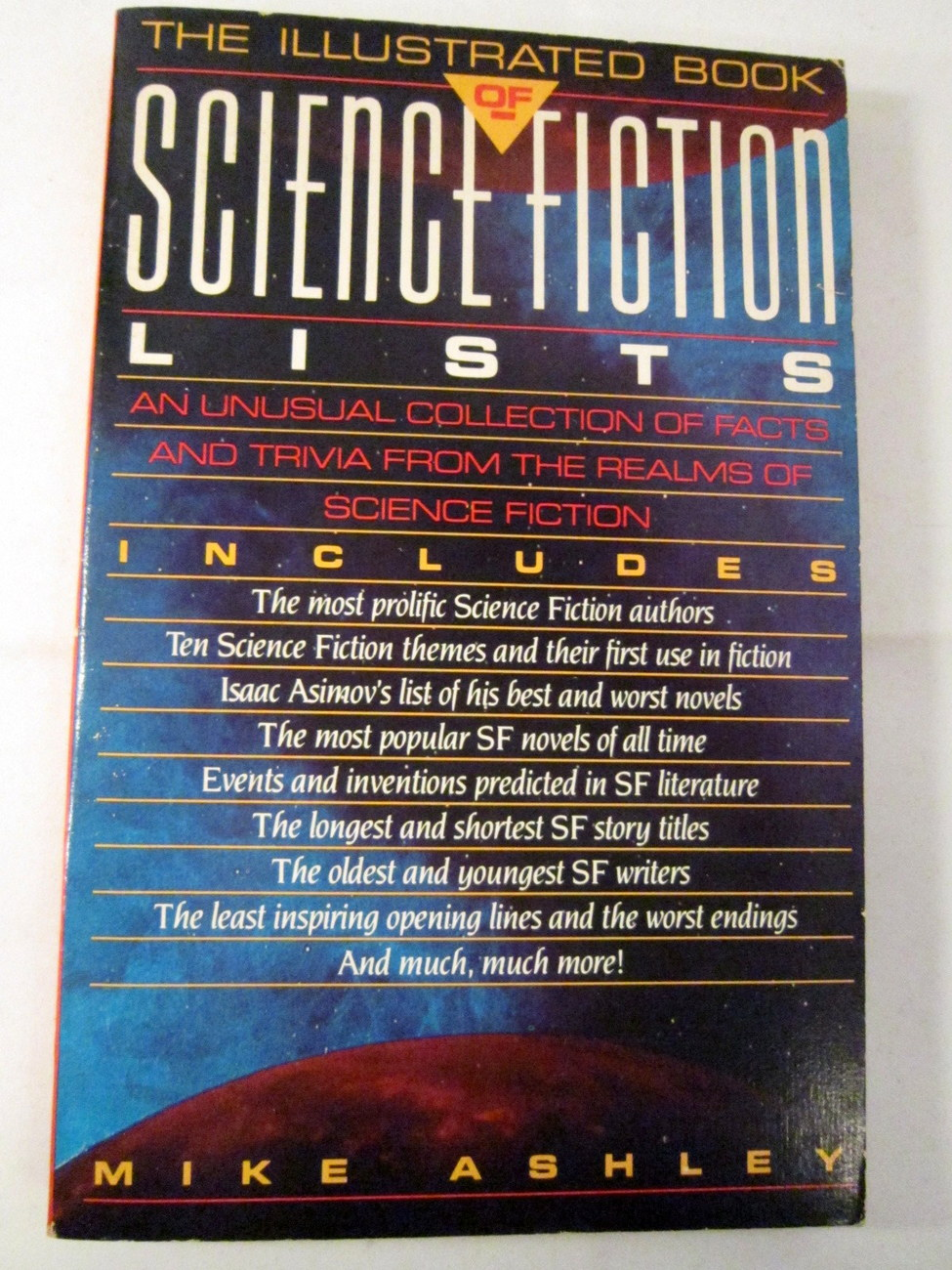 Primary image for Science Fiction Lists by Mike Ashley 1982 SciFi Facts and Trivia