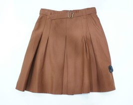 AKRIS Bergdorf Goodman Caramel/Rust/Brown Pleated A-Line Skirt Sz 10 $700 - $159.32