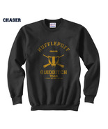 CHASER Old Hufflepuff Quidditch team Unisex Crewneck Sweatshirt Black - $33.00+