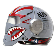 Masei 610 F4 Phantom Chopper Motorcycle Helmet image 3