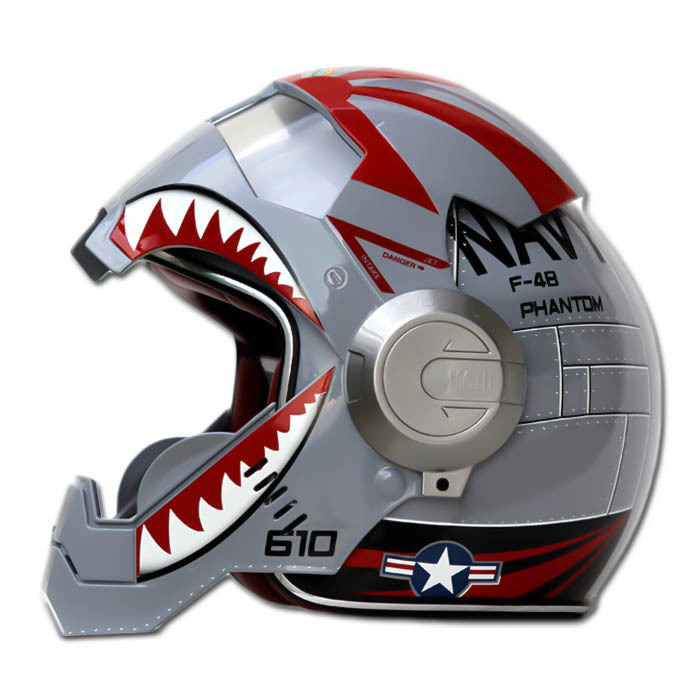 Masei 610 F4 Phantom Chopper Motorcycle Helmet image 2