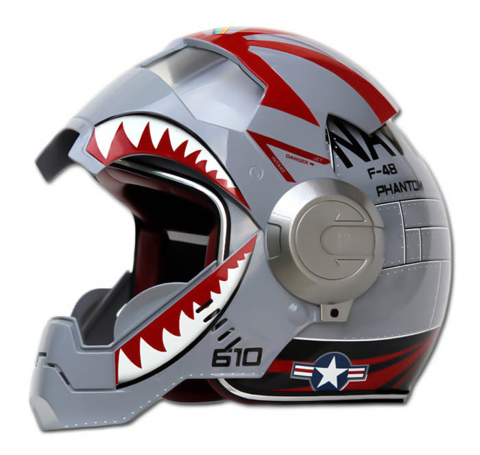 Masei 610 F4 Phantom Chopper Motorcycle Helmet