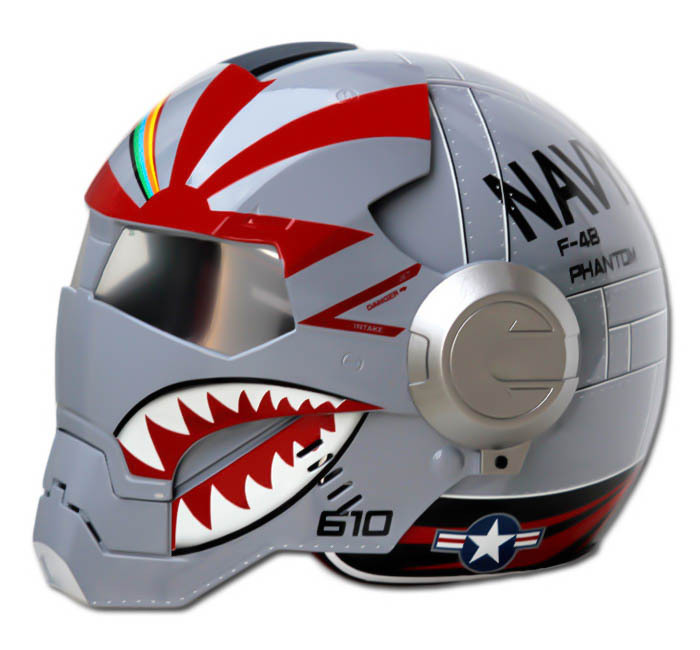 Masei 610 F4 Phantom Chopper Motorcycle Helmet image 5
