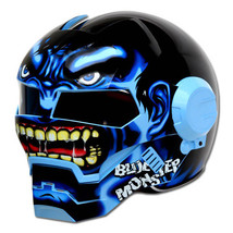 Masei 610 Blue Monster Chopper Motorcycle Helmet image 3