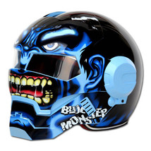 Masei 610 Blue Monster Chopper Motorcycle Helmet image 4