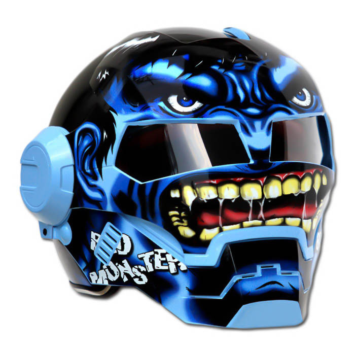 Masei 610 Blue Monster Chopper Motorcycle Helmet
