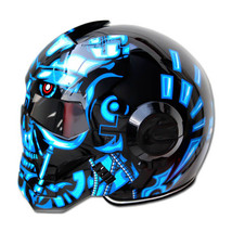 Masei 610 Terminator War Machine Chopper Motorcycle Helmet image 3