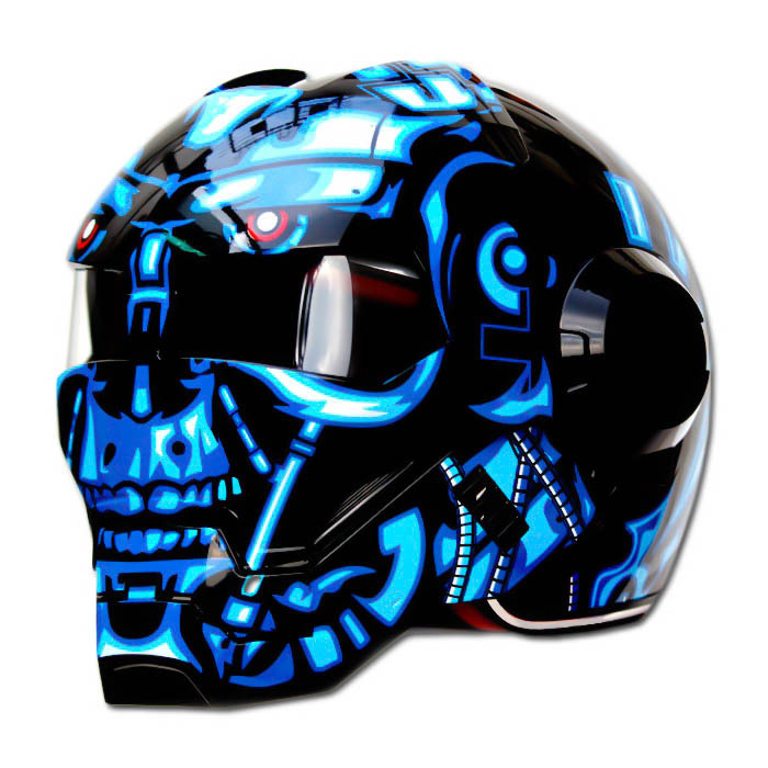 Masei 610 Terminator War Machine Chopper Motorcycle Helmet image 2