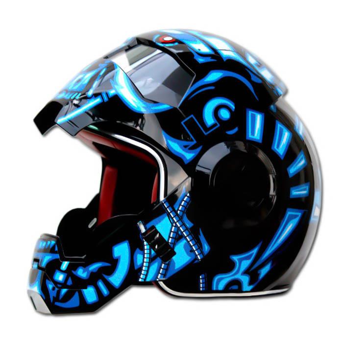 Masei 610 Terminator War Machine Chopper Motorcycle Helmet image 4