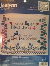 "Bless The Seeds Counted Cross Stitch Kit Janlynn 11"" X 9"" Sandy Cozzolino  - $13.98"