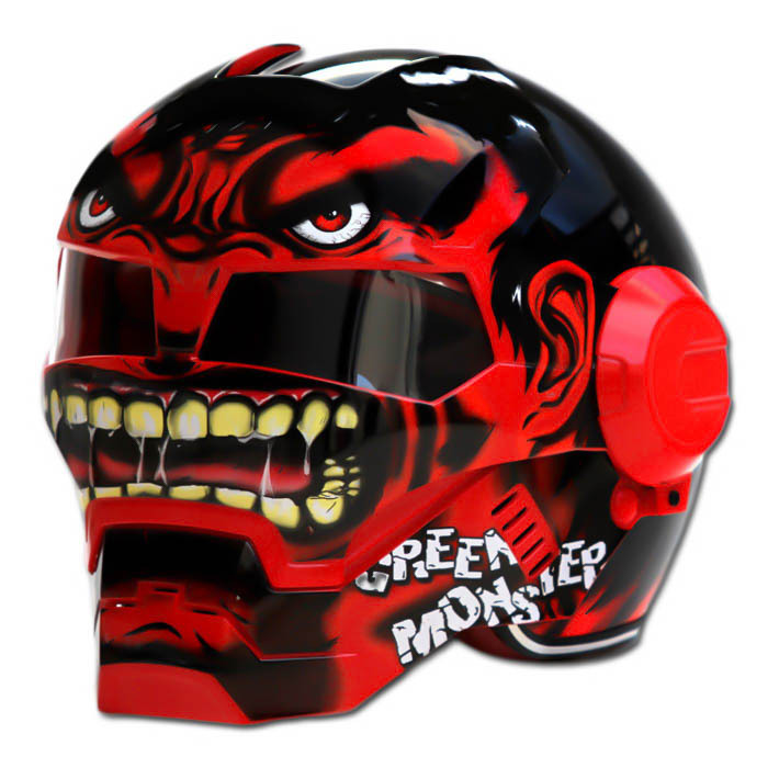 Masei 610 Red Monster Chopper Motorcycle Helmet