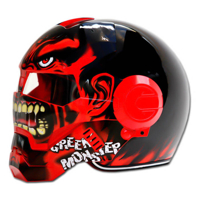 Masei 610 Red Monster Chopper Motorcycle Helmet image 3
