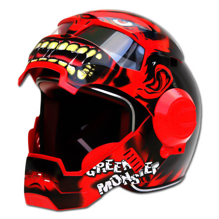 Masei 610 Red Monster Chopper Motorcycle Helmet image 4