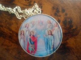 7 Archangels pendant, Michael Jophiel Chamuel Gabriel Raphael Uriel Zadkiel - $39.99