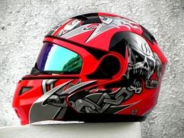 Masei 610 Red Skull Motorcycle Helmet image 6