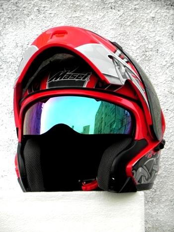 Masei 610 Red Skull Motorcycle Helmet image 7