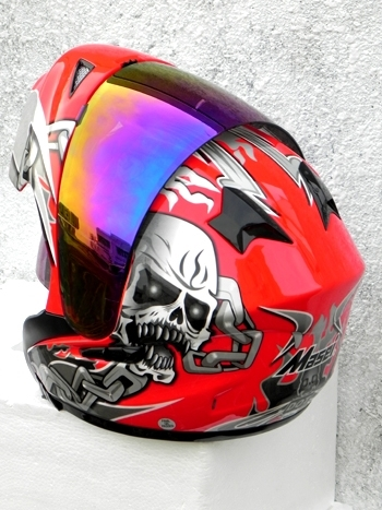 Masei 610 Red Skull Motorcycle Helmet image 8