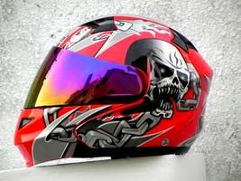 Masei 610 Red Skull Motorcycle Helmet image 2