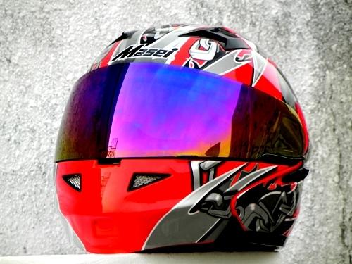 Masei 610 Red Skull Motorcycle Helmet
