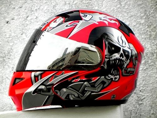 Masei 610 Red Skull Motorcycle Helmet image 4