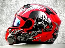 Masei 610 Red Skull Motorcycle Helmet image 9