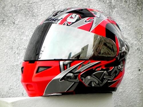 Masei 610 Red Skull Motorcycle Helmet image 5