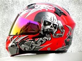 Masei 610 Red Skull Motorcycle Helmet image 3