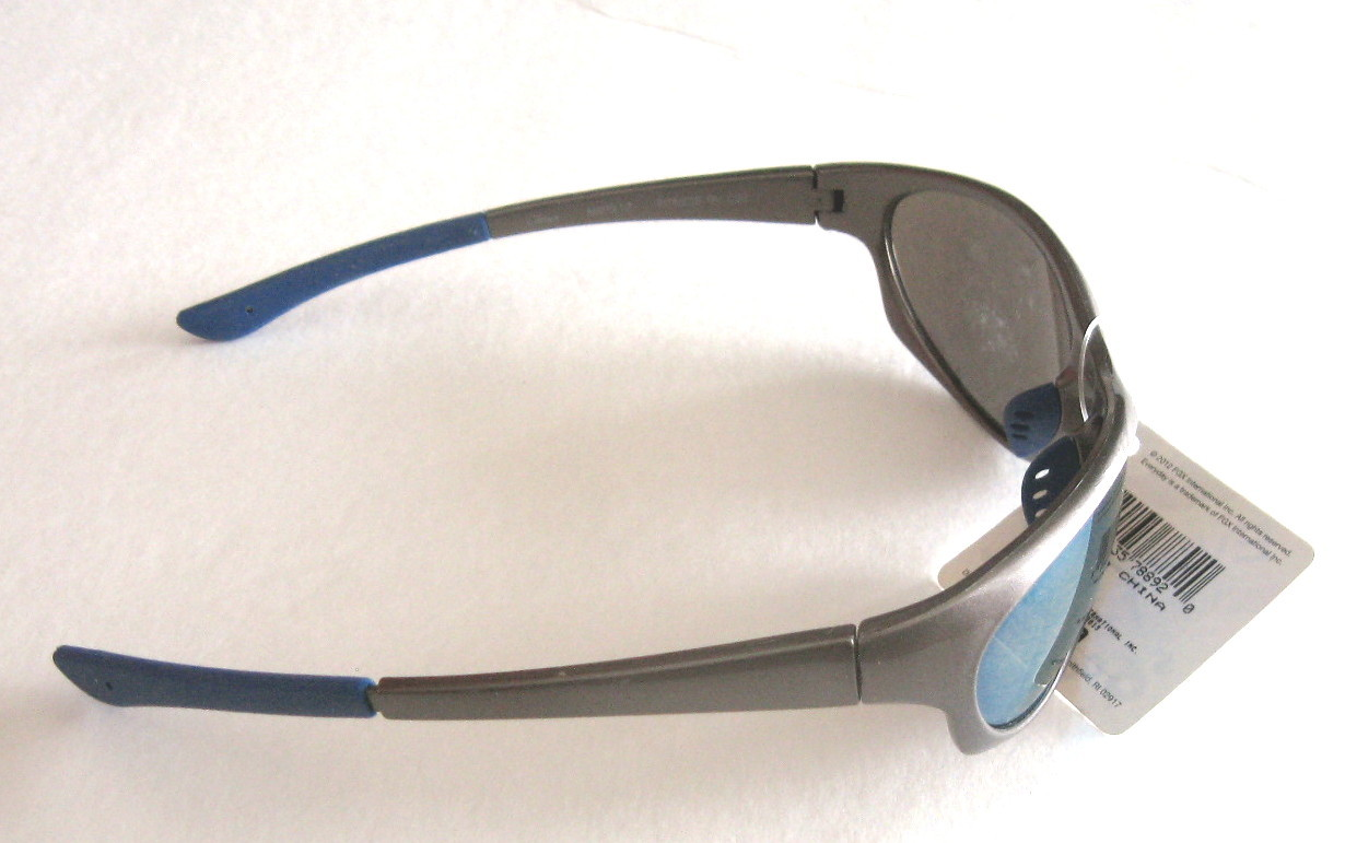 8c4851a4cf Suntastic by Foster Grant Fitness RV Sunglasses - Grey with Blue Lenses