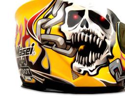 Masei 816 Yellow Skull Motorcycle Helmet image 6