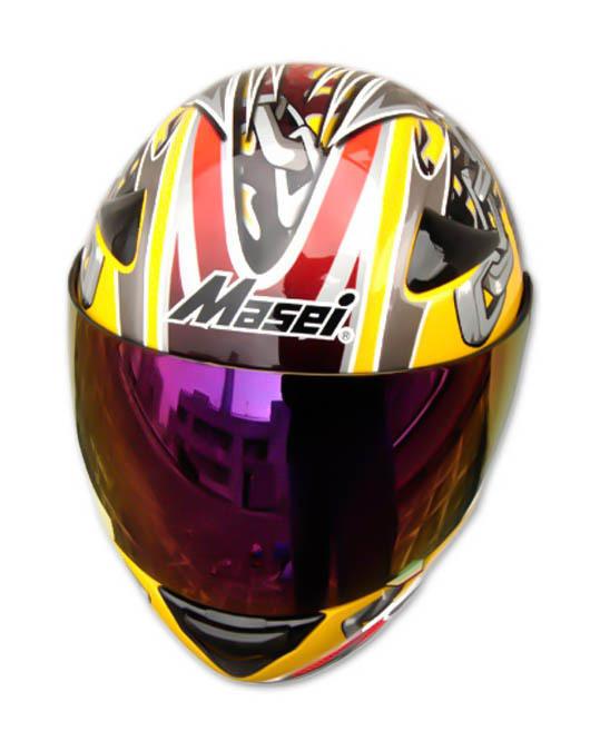 Masei 816 Yellow Skull Motorcycle Helmet image 4