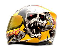Masei 816 Yellow Skull Motorcycle Helmet image 5