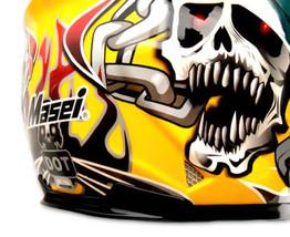 Masei 816 Yellow Skull Motorcycle Helmet image 7