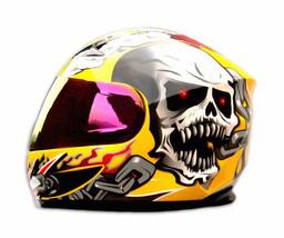 Masei 816 Yellow Skull Motorcycle Helmet image 2