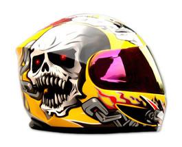 Masei 816 Yellow Skull Motorcycle Helmet image 3