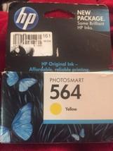 HP 564 Yellow Inkjet Ink CB320WN Factory Sealed 2011 Single Unit NEW OEM - $10.65