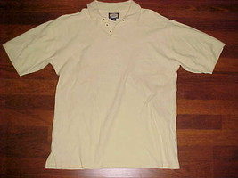 Tommy Bahama Men Short Sleeve Yellow Snap Button Cotton Polo Shirt S - $24.74