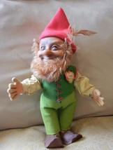 Large Steiff Vintage Gnome Elf Doll Lucki St.Patrick's Day Chest Tag 195... - $159.00