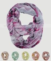 Oil Paint Blur Tie Dye Block Circle Loop Wrap Infinity Scarf Multi Color... - $6.95