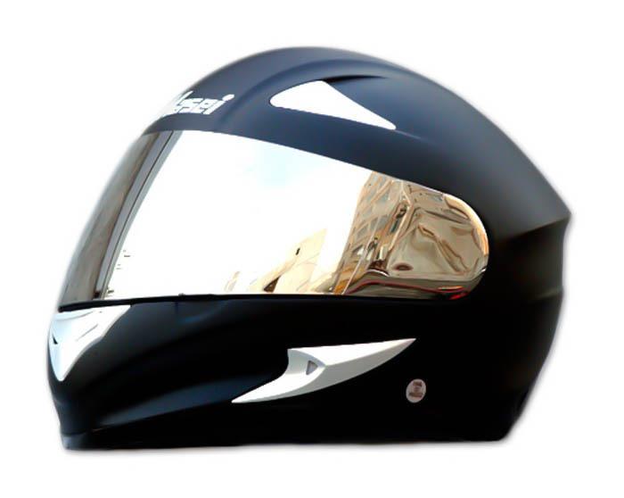 Masei 816 Matt Black Motorcycle Helmet image 4