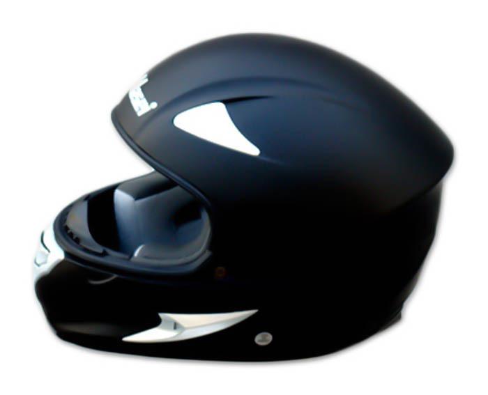Masei 816 Matt Black Motorcycle Helmet image 9