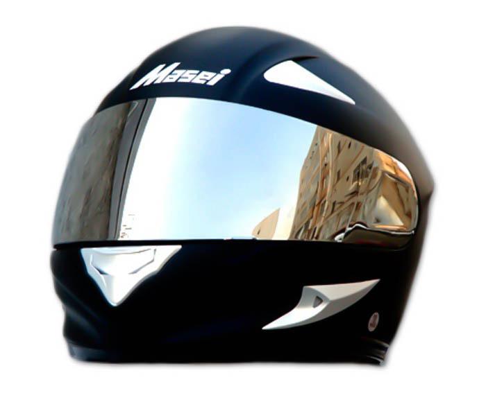 Masei 816 Matt Black Motorcycle Helmet image 3